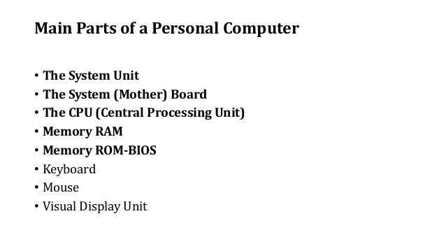 intro to computing for national diploma students basic functions of computer 7