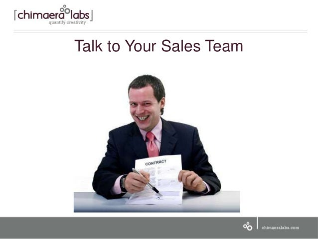 Talk to Your Sales Team