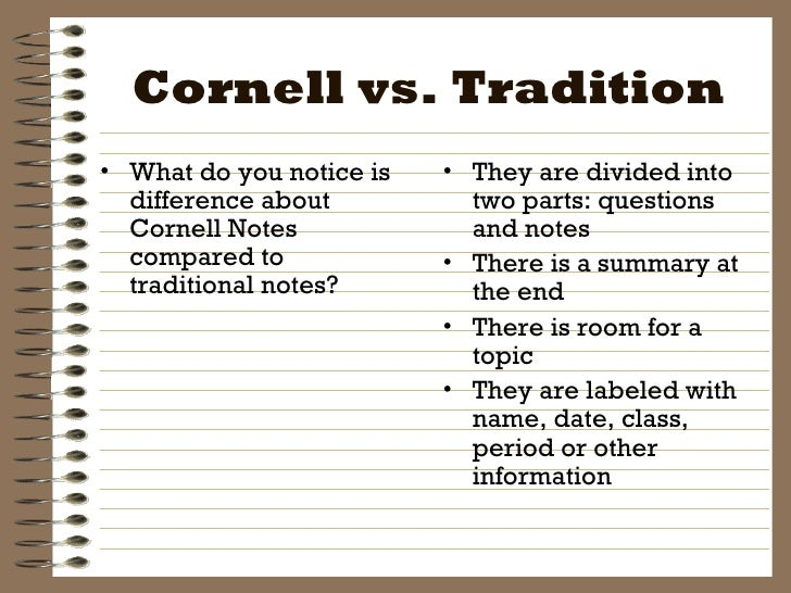 Cornell Note | Intro To Cornell Notes