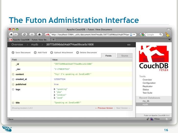 The Futon Administration Interface                                          16