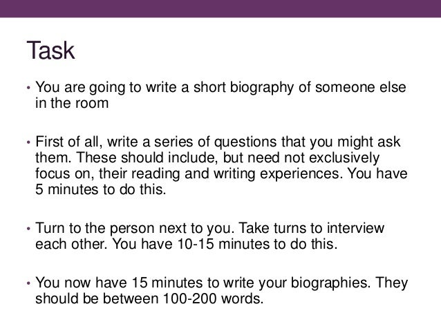 How to Write an Informative Short Bio on Yourself Very Easily