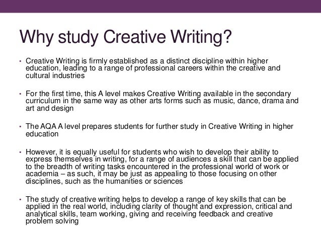 English a-level coursework - creative writing
