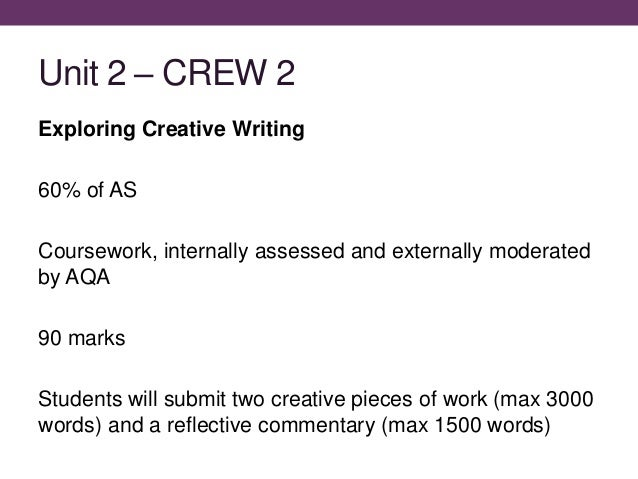 creative writing coursework definition