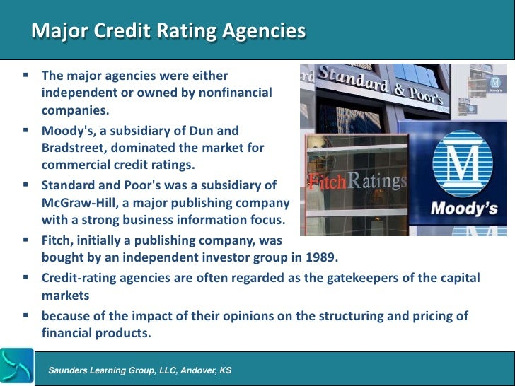 Intro to Credit Rating Agencies