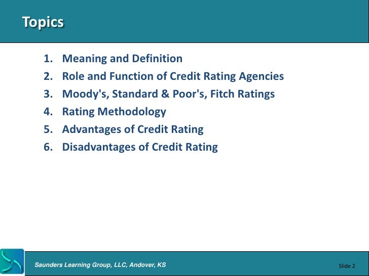 the importance of debt rating companies Why are life insurance credit ratings important an insurance company's rating provides important insight into understanding a company's financial strength.