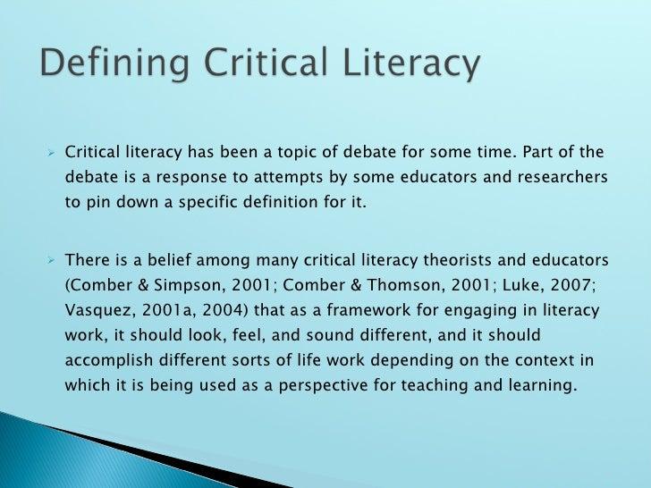literacy definition essay