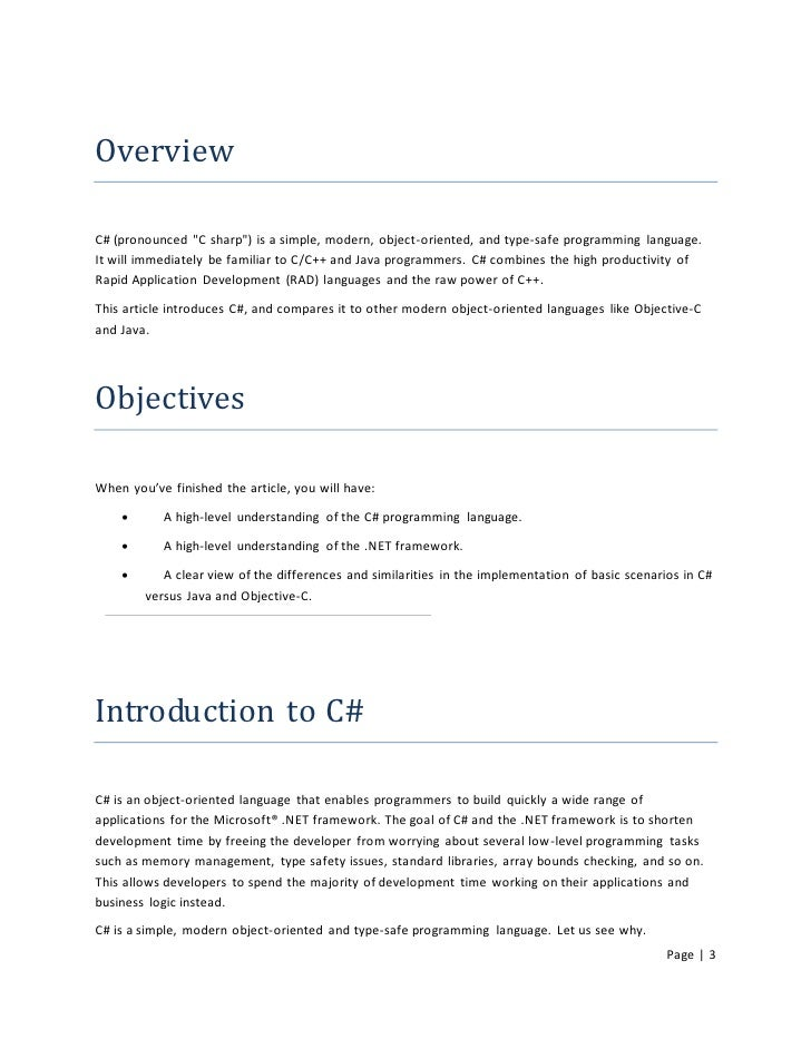 objective c intro Because the correct answers to objective test questions are pre-determined, they are well suited to the many forms of caa that involve automated marking.