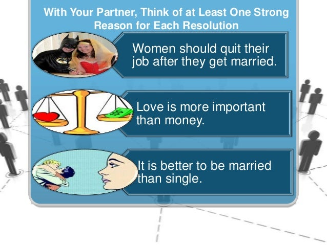 It is better to be married than single debate