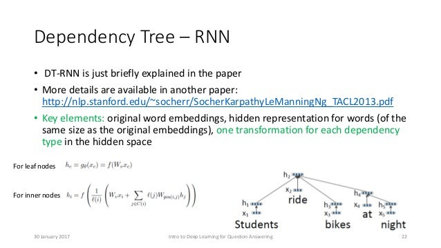 Dependency Tree – RNN • DT-RNN is just briefly explained in the paper • More details are available in another paper: http:...