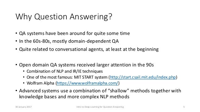 Intro to Deep Learning for Question Answering