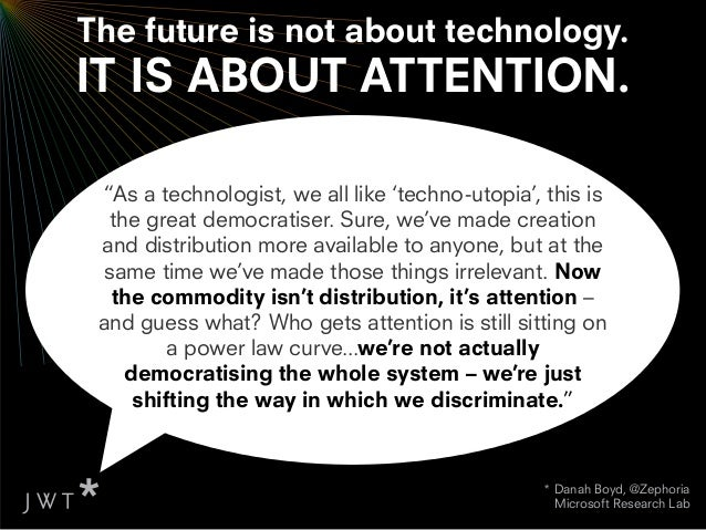 We must choose our channels                                   & technologies wisely:VISIBILITY                            ...