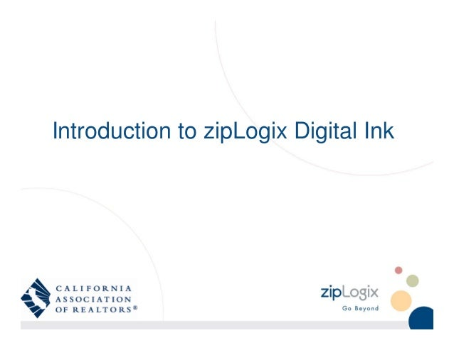 Introduction to zipLogix Digital Ink