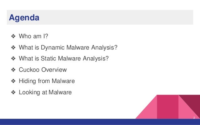 Introduction to Dynamic Malware Analysis    Or am I