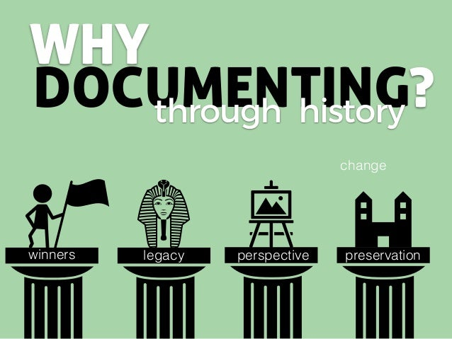 WHY DOCUMENTING?through history winners legacy preservationpreservationperspective change