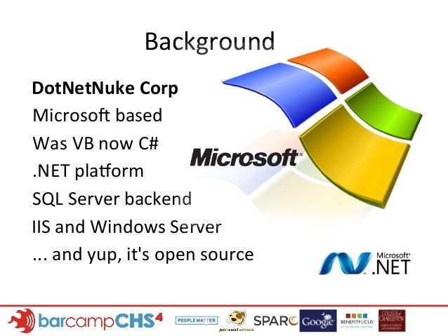 Intro to DotNetNuke Slide 3