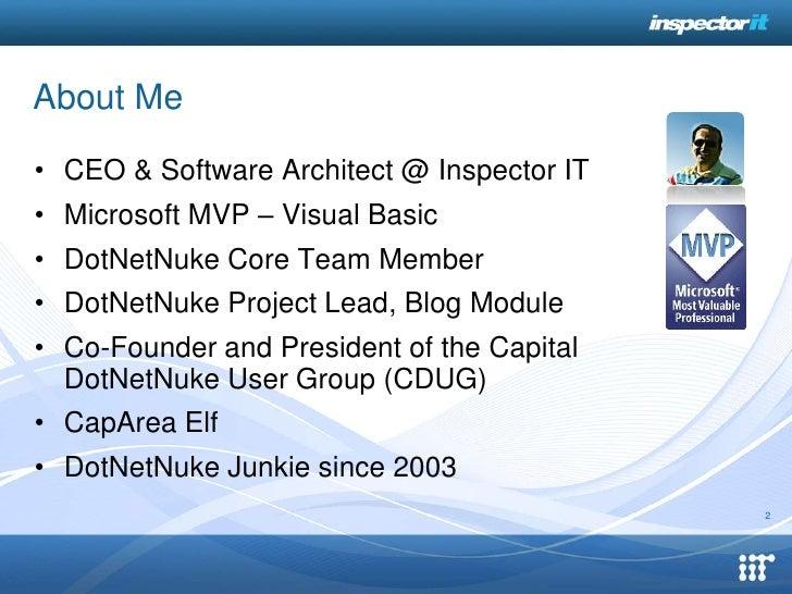Intro to DotNetNuke 6 Slide 2
