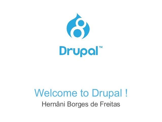 Welcome to Drupal ! Hernâni Borges de Freitas