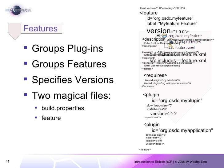 Features <ul><li>Groups Plug-ins </li></ul><ul><li>Groups Features </li></ul><ul><li>Specifies Versions </li></ul><ul><li>...
