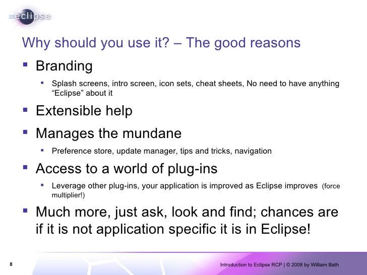 Why should you use it? – The good reasons <ul><li>Branding </li></ul><ul><ul><li>Splash screens, intro screen, icon sets, ...