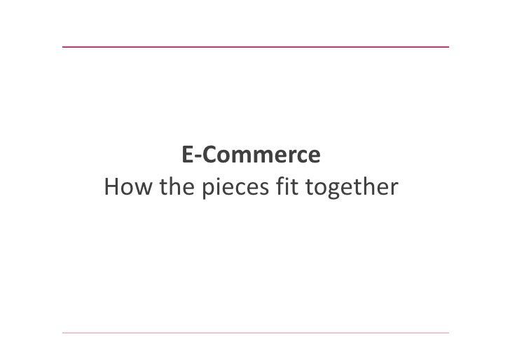 E-CommerceHow the pieces fit together