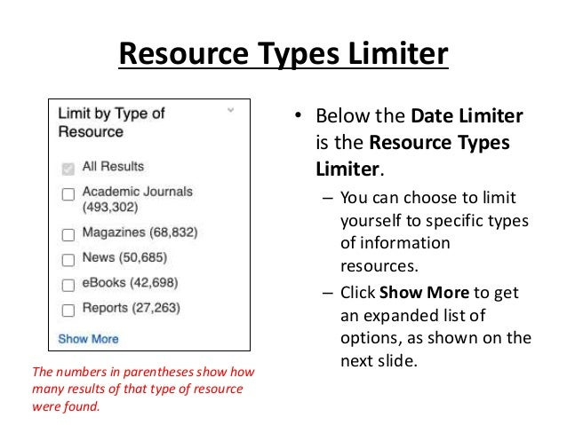 The first several resources found are eBooks. An eBook can be accessed through the PDF Full Text, EPUB Full Text and/or Fu...