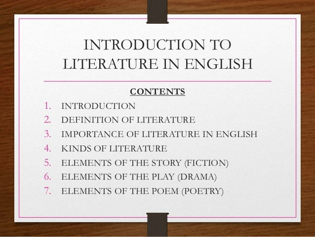 english lit coursework introduction An introduction to literature in english for lector students - studieemner - uis   coursework requirements compusory activities there are three compulsory.