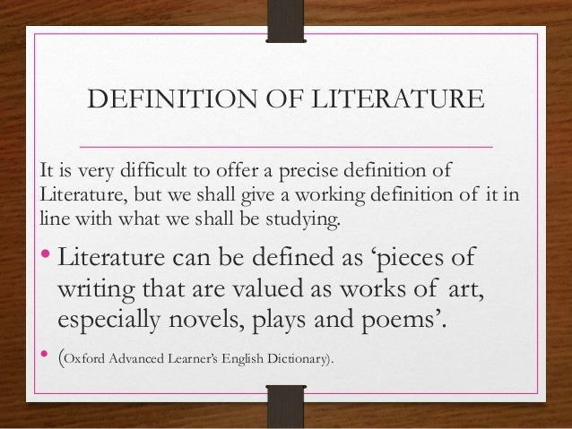 A literature essay definition