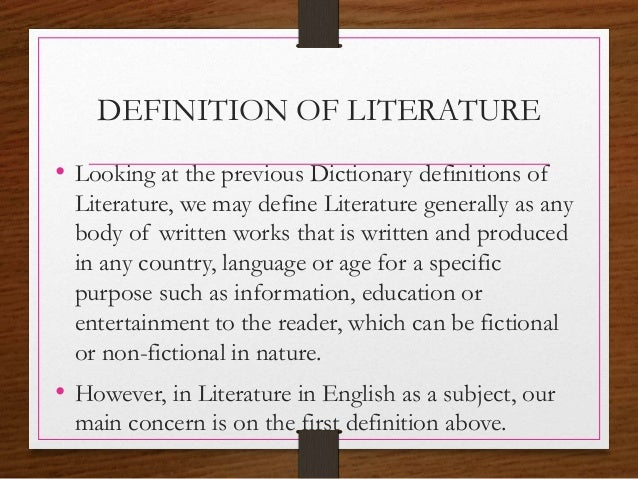 scientific literature definition