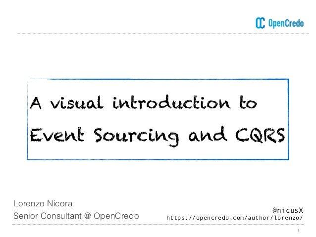 A visual introduction to Event Sourcing and CQRS 1 @nicusX https://opencredo.com/author/lorenzo/ Lorenzo Nicora Senior Co...