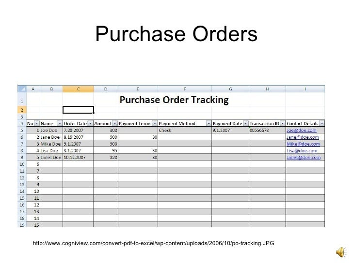 excel purchase order tracking template introto excel