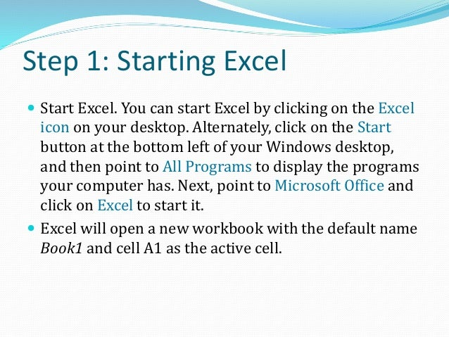 Step 2: Formatting Cells A1 to F4  Select cell A1, click the left button on the mouse and drag it over cells in columns A...
