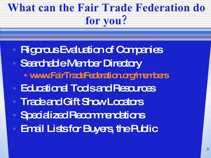 an introduction to the mission of fair trade The world trade organization — the wto — is the international organization whose primary purpose is to open trade for the benefit of all  an introduction,.