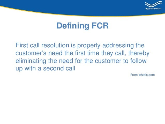 introduction to first call resolution
