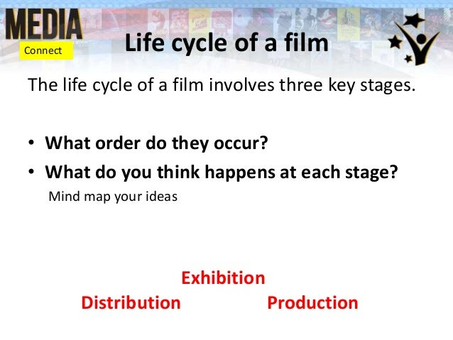 Connect  Life cycle of a film  The life cycle of a film involves three key stages. • What order do they occur? • What do y...
