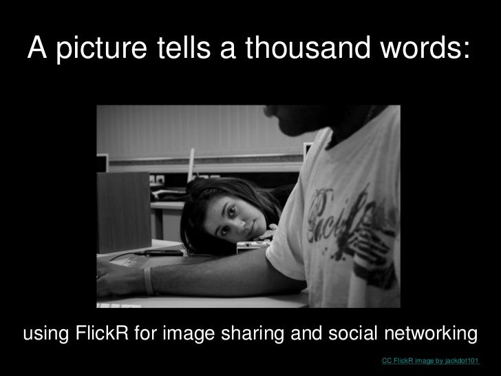 A picture tells a thousand words:using FlickR for image sharing and social networking                                     ...