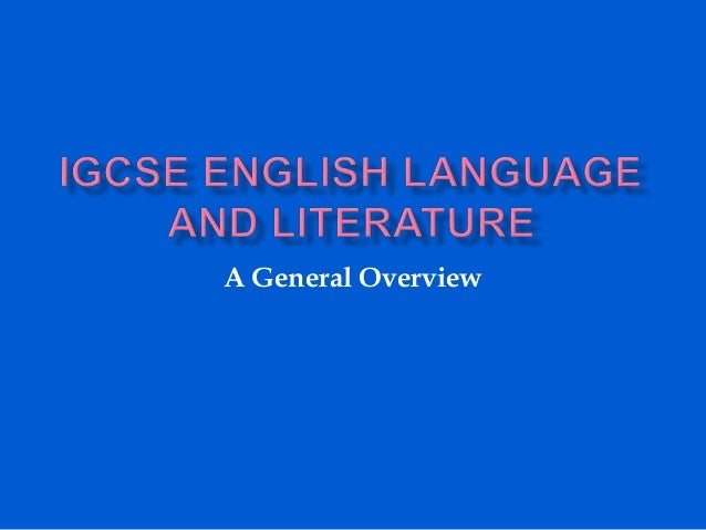 Introduction to IGCSE English Language and Literature 2016 ...