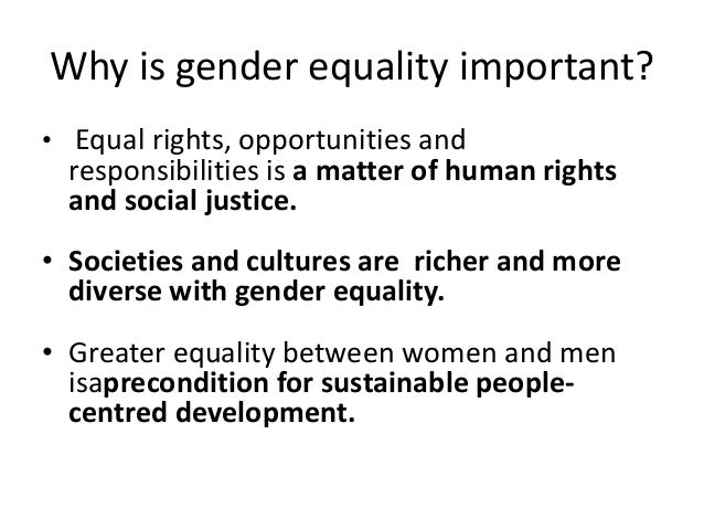 an introduction to the importance of equality