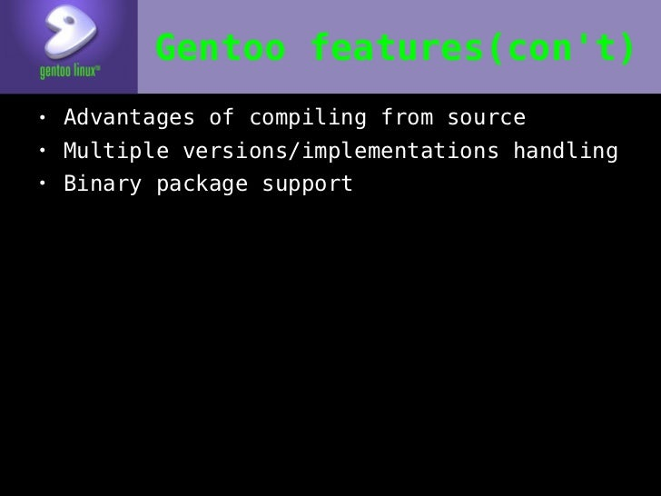 Gentoo Linux, or Why in the World You Should Compile Everything