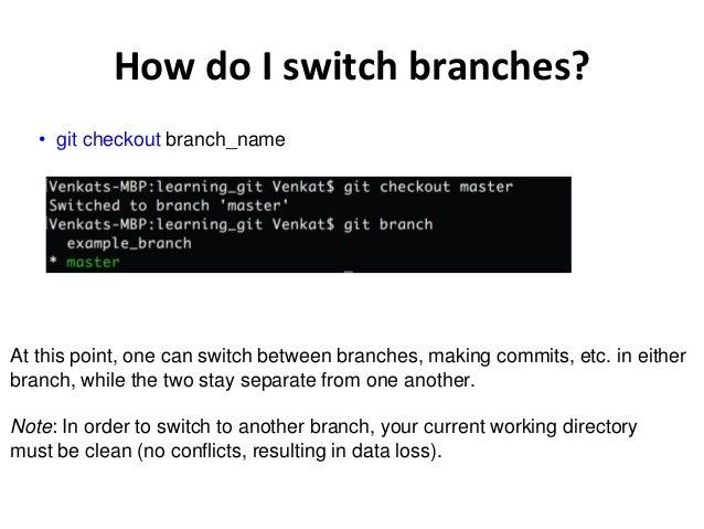 git switch branch