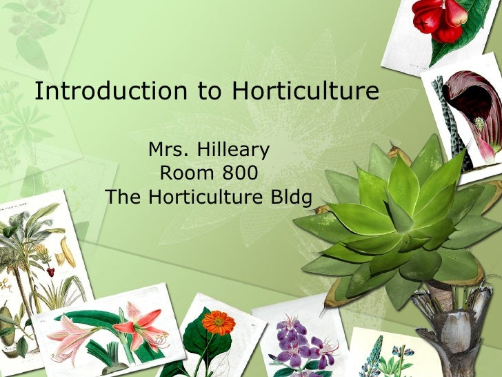 Intro to hort day 1