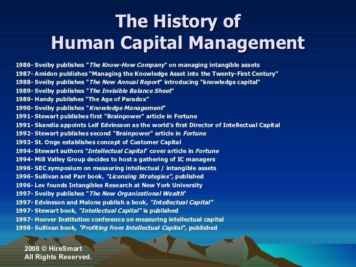 Intro to human capital management