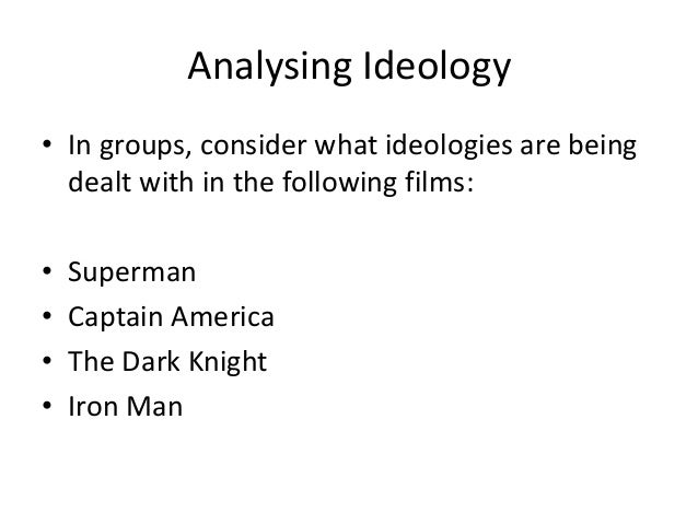 dominant ideology and american Abstract superhero comic books, part of american popular culture since 1938,  have been recognised as a site for the reproduction of dominant ideology,.