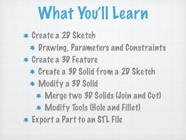 AutoDesk Inventor Basics at TechShop