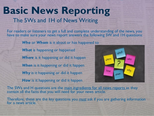intro to journalism