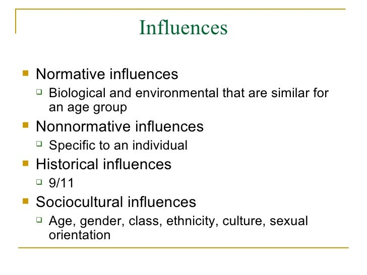 Nonnormative influences