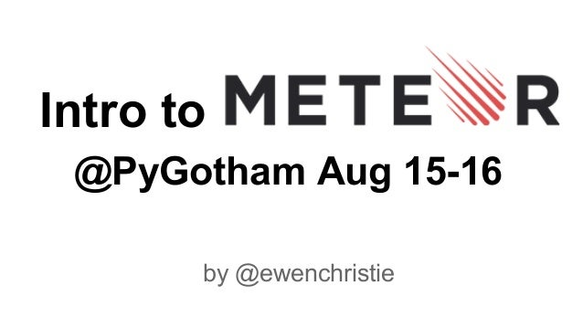 Intro to @PyGotham Aug 15-16 by @ewenchristie
