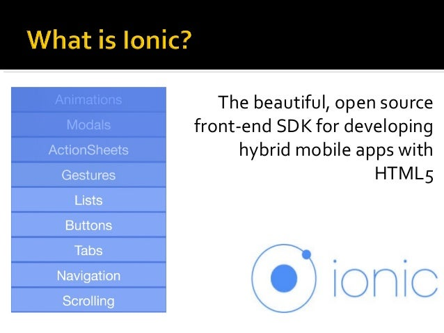 The beautiful, open source front-end SDK for developing hybrid mobile apps with HTML5