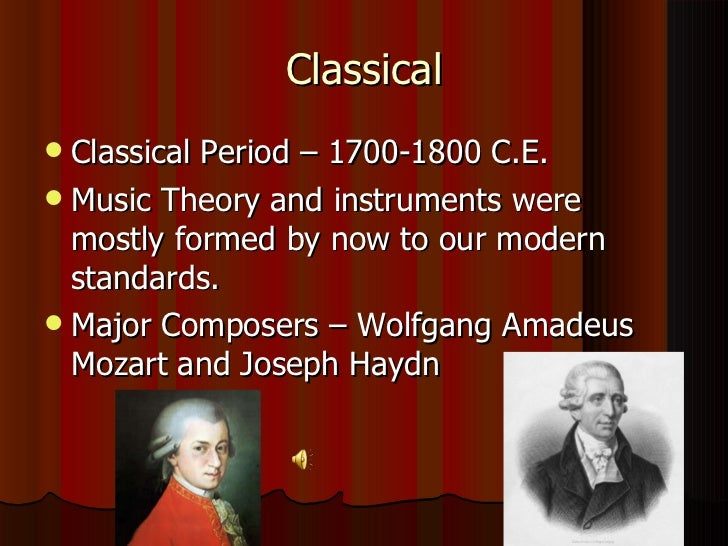 an introduction to the history of the classical period franz josef haydn Franz joseph haydn - haydn:die sinfonien - amazoncom music interesting finds though its presence in classical-period symphonies is unnecessary and, for many strongly recommended either as an introduction to haydn's symphonic ouvre or as a supplement to whatever haydn.