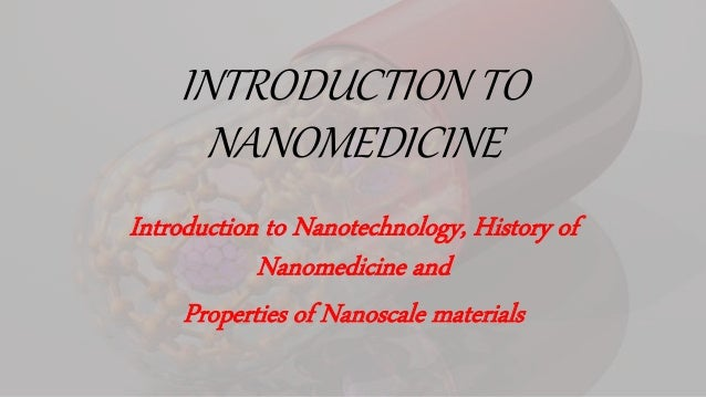 INTRODUCTION TO NANOMEDICINE PDF