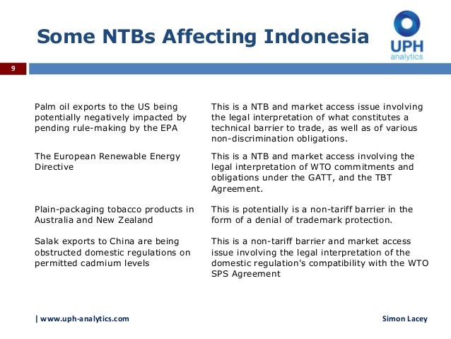 An Introduction To Non Tariff Barriers And Wto Rules